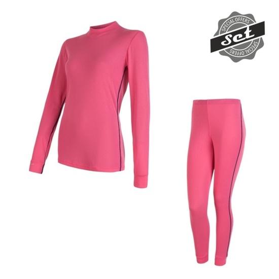 femeiesc set Sensor ORIGINAL ACTIVE SET tricou + chiloți roz 17200054