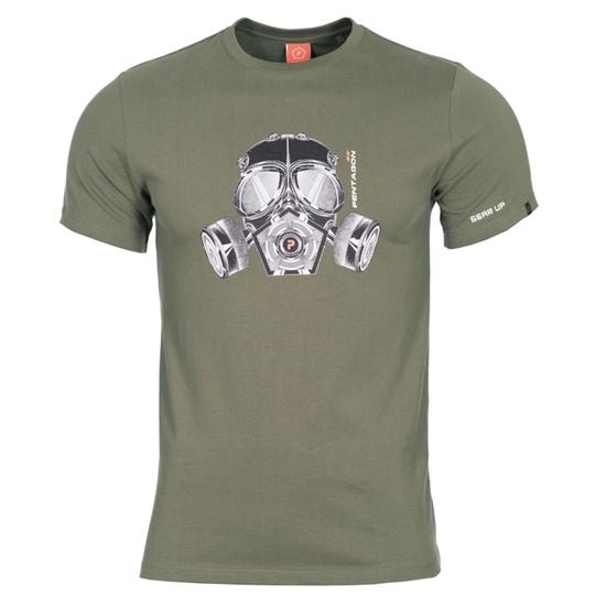 Pentru bărbaţi tricou PENTAGON® gaz masca oliv verde