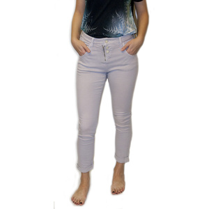 Pantaloni Mavi Mira Liliac țesătură diagonală, MAVI