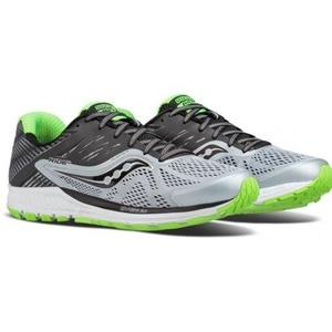 Pentru bărbaţi cruce țară pantofi Saucony Plimbare 10 Grey / Black / Slime, Saucony