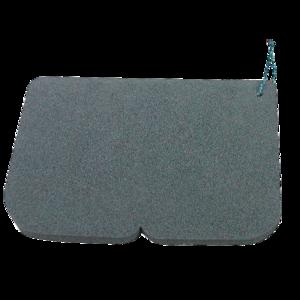 scaun alu EVA 245 x 190 x 14 mm negru, Yate