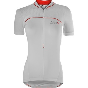 femeiesc ciclism jersey Silvini CATIRINA WD1002 alb-roșu, Silvini