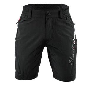 Pentru bărbaţi MTB ciclism pantaloni Silvini MAGO MP858 negru-rosu, Silvini
