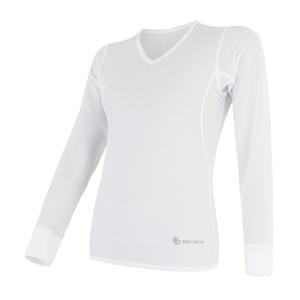 Femeii cămașă Sensor Coolmax proaspăt aer V-Neck albe 17100024, Sensor