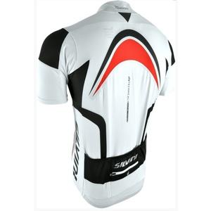 pentru bărbați ciclism jersey Silvini Lemmy MD603 alb-roșu, Silvini