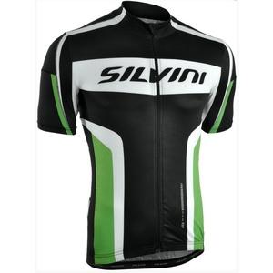 pentru bărbați ciclism jersey Silvini Lemmy MD603 negru-pădure, Silvini