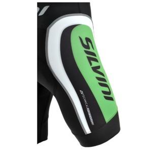 Pentru bărbaţi ciclism pantaloni Silvini vesel MP605 negru-pădure, Silvini
