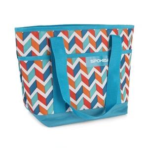 plajă termo sac Spokey ACAPULCO albastru zigzag, 39 x 15 x 27 cm, Spokey