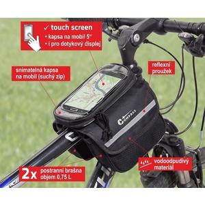 Cyklotaška peste cadru față-verso + TELEFON Compass, Compass