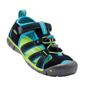 sandale Keen SEACAMP (II) CNX JR, negru / albastru dunărshe, Keen