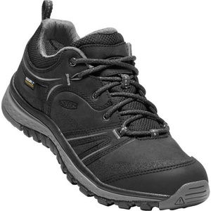 Femeii pantofi Keen Terradora piele WP W, negru / oțel gri, Keen