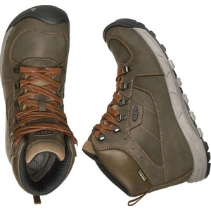 Pentru bărbaţi pantofi Keen spre vest MID piele WP M, întuneric măsline / rugină, Keen