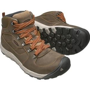 Pentru bărbaţi pantofi Keen spre vest MID piele WP M, întuneric măsline / rugină