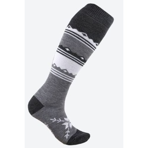 tricotat merinos șosete genunchi Kama F03 111 întuneric gri, Kama