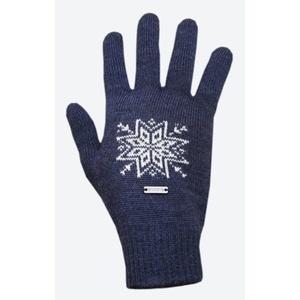 tricotat merinos manusi Kama R104 108 întuneric albastru, Kama