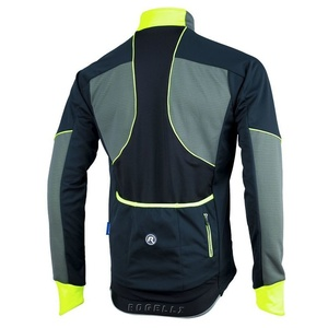 pentru bărbați softshell jacheta Rogelli TRANI 4.0, 003.121. negru-reflectorizant galben, Rogelli