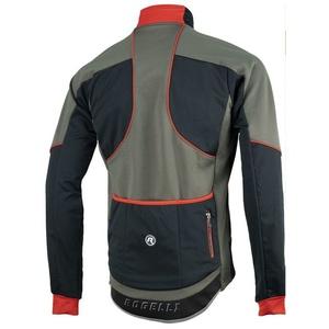 pentru bărbați softshell jacheta Rogelli TRANI 4.0, 003.122. negru-rosu, Rogelli