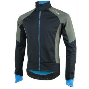 pentru bărbați softshell jacheta Rogelli TRANI 4.0, 003.124. negru-albastru, Rogelli