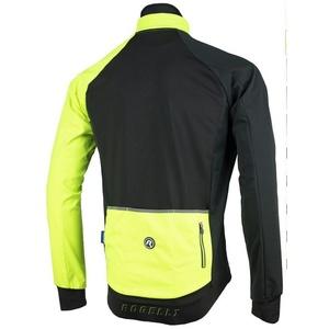 pentru bărbați softshell jacheta Rogelli Contento, 003.140 negru-reflectorizant galben, Rogelli