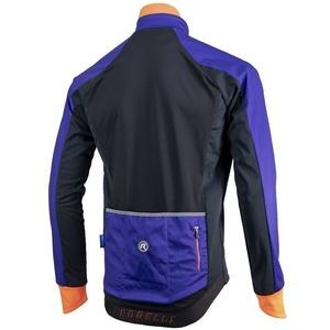 pentru bărbați softshell jacheta Rogelli Contento, 003.141 albastru-negru-portocaliu, Rogelli