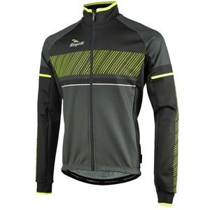 pentru bărbați softshell jacheta Rogelli Ritmo, 003.255. negru-reflectorizant galben, Rogelli