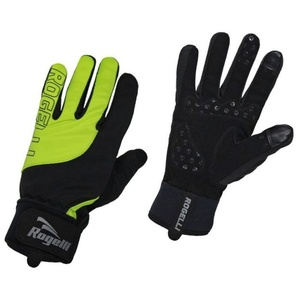 Pentru bărbaţi ciclism manusi Rogelli Furtuna, 006.125. negru-reflectorizant galben, Rogelli