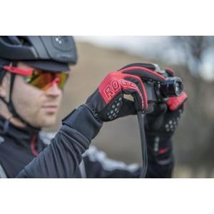 Pentru bărbaţi ciclism manusi Rogelli Furtuna, 006.126. negru-rosu, Rogelli