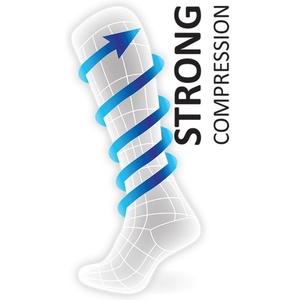 iarnă comprimare șosete genunchi ROYAL BAY® Thermo 2.0 Negru / Albastru 9577, ROYAL BAY®