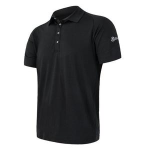 Pentru bărbaţi jumătate cămașă Sensor merinos activ, negru 19100002, Sensor