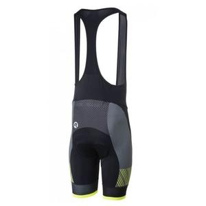 ciclo pantaloni scurţi Rogelli RITMO cu gel căptușshelă, negru-reflectorizant galben, Rogelli