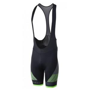 ciclo pantaloni scurţi Rogelli RITMO cu gel căptușshelă, negru-reflectorizant verde 002.264., Rogelli