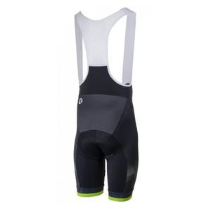Ciclism pantaloni scurţi Rogelli ISPIRATO 2.0 cu gel cyklovýstelkou, negru-reflectorizant verde 002.399., Rogelli