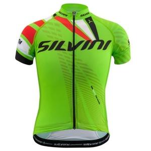 copilăresc ciclism jersey Silvini echipă CD1435 verde, Silvini