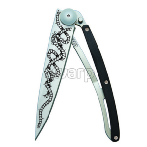 buzunar cuțit Deejo 1CB045 tatuaj 37g abanos lemn, frânghie, Deejo