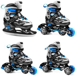 patine Spokey QUATTRO 4IN1 negru-albastru, reglementate, Spokey