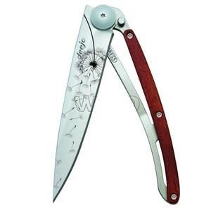 buzunar cuțit Deejo 1CB057 tatuaj 37g, abanos lemn, face şi dori, Deejo