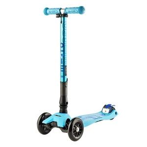 scuter maxi Micro Deluxe pliere luminos albastru, Micro
