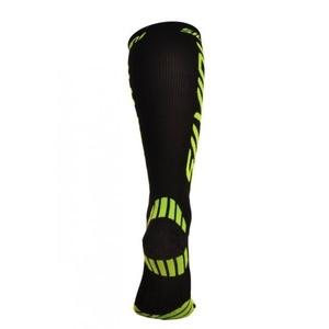 comprimare șosete genunchi Silvini Casalone UA562 negru-neon, Silvini