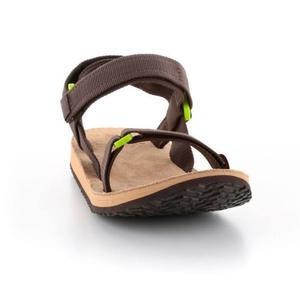 sandale SOURCE urban pentru bărbați piele maro /verde, Source