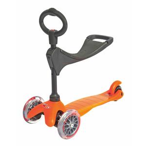 scuter Mini Micro 3 în 1 orange (portocaliu), Micro