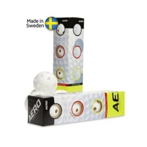 set floorball bile Salming Aero bilă 4-pack Alb, Salming