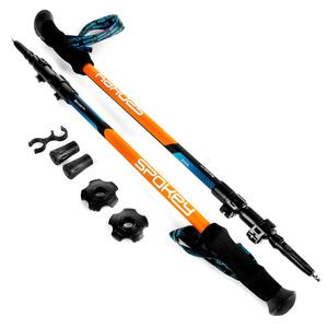 trekking bastoane Spokey ZION albastru și portocaliu, Spokey