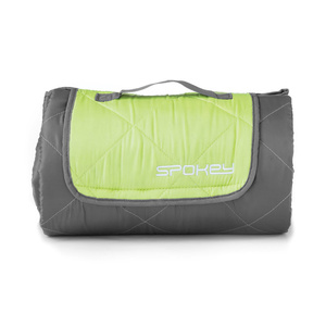 Spokey CANYON dormit sac 200x140cm, tip: quilt, gri / verde, Spokey