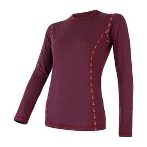 Femeii cămașă Sensor MERINO AIR tm. burgundia 18200006, Sensor