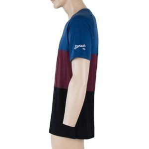 Pentru bărbaţi cămașă Sensor MERINO AIR PT negru / albastru / visiniu 18200013, Sensor