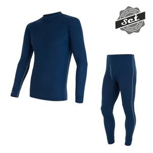 pentru bărbați set Sensor ORIGINAL ACTIVE SET tricou + chiloți întuneric albastru 17200051, Sensor