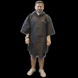 haină de ploaie TREKMATES esențial poncho negru, TrekMates