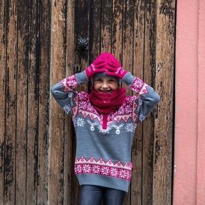 Copii tricotat merinos manusi Kama RB203 114, Kama